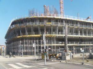 Stand 03.03.2013: Die Decke über dem 3. Obergeschoß ist schon betoniert.
